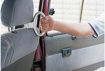 CAR BUTLER® HELPING HANDLE / A helping hand for anyone who struggles to get in or out of the back seat.