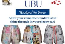 Weekend In Paris Pajamas / Weekend In Paris! Allow your romantic wanderlust to shine through in your sleepwear!  Weekend In Paris Boxer Unique prints inspired by French culture and Parisian landmarks will fill your mind with lovely daydreams of traveling around Paris. We have various Weekend In Paris pajama sets to choose from, all made of soft, lightweight cotton.  Enjoy UBU Weekend In Paris pajama collection. #ubu-weekendinparis. Checkout Weekend In Paris at http://unusualbabeundercover.com/weekend-in-paris