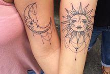 Tatuagens Sol Lua