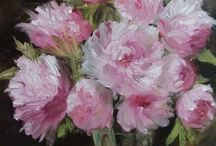 Paintings Flowers oil canvas