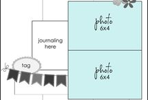Page layouts for 2 photos