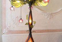 secesná lampa