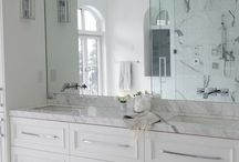 master bath frameless mirror