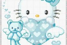 Cross stitch hallo kitty