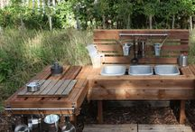Mud Kitchens / A great space for creative, imaginative outdoor play! Just add water for hours of unstructured play.