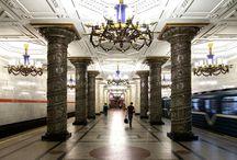 St. Petersburg_metro / Metro subway Station, St. Petersburg,