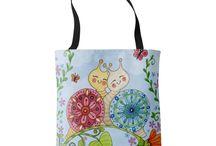 Fun Tote Bag Designs! / Fun, colorful tote bags designs created by Jennifer from her original artwork.