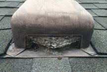 Dryer Vent Cleaning in Southwest Austin (Slaughter & Brodie) / What happens when the builders or roofers use the wrong cap for your dryer vent... http://betterdryervent.com/san-antonio-tx