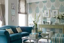 Taupe and blue decor