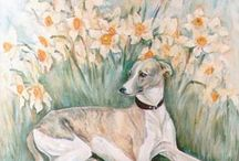 Dog art & design / Dogs portraits in landscape, bags, mugs, creative ideas with the dog