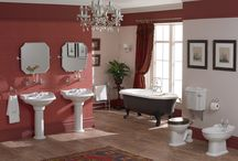 Traditional Bathroom Design Ideas / Use rich colours and authentic detailing to create a luxurious traditional, elegant feel.