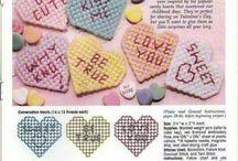 valentines plastic canvas