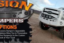 Fusion Bumpers / Fusion Bumpers offers Complete Bolt-On Front and Rear Bumpers with (HD) Heavy-Duty Mounts and all the Mounting Hardware necessary to replace Your Truck's Stock Bumpers. #FusionBumpers