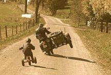 moto z wózkiem