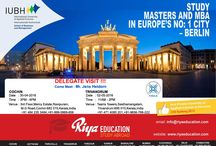 Delegate Visit at Riya Education - IUBH, Germany /  Want to study abroad in Germany? Come and meet the delegate from IUBH, Germany.