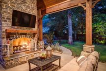 Fireplaces / Our custom outdoor fireplaces are the perfect place to warm up on chilly evenings.