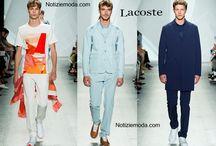 Lacoste uomo / Lacoste collezione e catalogo primavera estate e autunno inverno abiti abbigliamento accessori scarpe borse sfilata uomo.