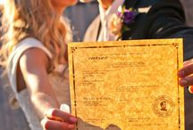 Take a photo with your marriage license