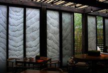 Washi interior 和紙インテリア建築 #越前和紙 #Echizen Washi, / インテリアや建築に使用される和紙の提案。