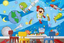 Space Wall Mural / Space Wall Mural