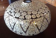 Ostrich shell mosaic