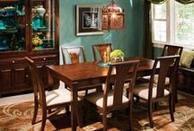 Teal and brown decor