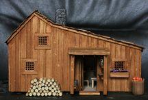 """""""Sa"""" petite maison dans la prairie / Je voulais vous faire découvrir ce matin, deux très belles réalisations, créées par Danielle du forum Passion des Villages. Passionnée par la série, elle a donc naturellement reproduit la maison de la Série Culte, celle de la famille Ingalls ainsi que la vieille grange. Vous pouvez retrouver tout son univers sur son blog: http://il-etait-une-fois-noel.overblog.com/ Bonne balade..."""
