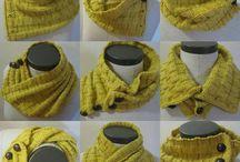 sciarpa collo e collane di lana