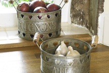 Tinware Collection / A hand picked collection of tin, jugs, pitchers and plaques perfect for adding a finishing touch.
