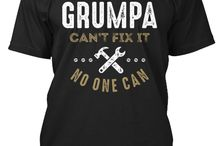 GRUMPA TEES / Gift ideas for Grumpa! Tees, Hoodies and Long-sleeves available in the style and color of your choice! By Cido Lopez Design. Father's Day T-shirts. #fathersday #grandparents #family
