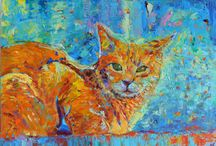 Dog portraits paintings Cats and pets