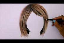 drawing & shading faces & hair