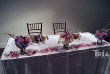 Sweetheart Tables / #sweethearttable #triasflowers #weddings #events #flowers #elegant #miami www.triasevents.com