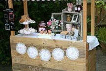 Summer cake stand