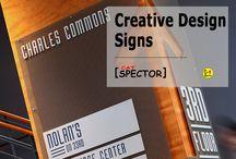 Creative Design. Signs