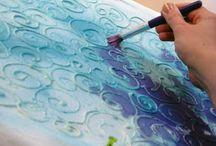peinture sur linge