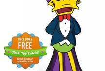 Danger Mouse and Count Duckula Cardboard Cutouts