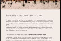 Invitation to Private View | 11 June 2015 | 18:00 - 21:00 / P21 gallery presents The Map is Not the Territory, looking at the relationships and commonalities in Palestinian, Native American, and Irish experiences of invasion, occupation, and colonization – not as novelty or polemic, but as history and current events. To understand history is the first step toward peace.