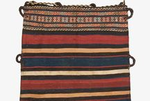 """Chuvals / Chuvals are used mainly by Turkmen nomadic tribes, and are essentially hand-woven sacks that are particularly well-known from the Auriga Turkmen. Perhaps a more appropriate appelation for chuvals given their many uses is to refer to them as """"portable wardrobes"""" for nomadic tribes, and they're incredible beautiful with a wide range of kilim motifs and is designed similar to their interior dwellings, or tents."""