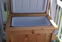 Recycle  Wood  Ice chest