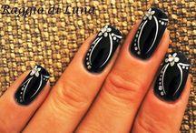 Funky shellac nails
