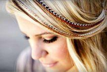 Extensiones de plumas / Extensiones de plumas para el pelo. ¡Súper originales para tu cabello!