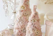 little romantic pink xmas trees