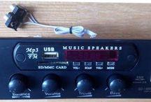 Rakitan Kit Aktif Speaker  80w Tda7266sa Stereo support Usb Mp3+FM