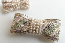 ビーズ刺繍 ヘアゴム