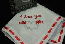Valentine's Day Wedding Theme Ideas / What's more romantic than a Valentine's Day wedding theme. I hope this offers inspiration for personalized wedding gifts, invitations, decorations, flowers, bridal hankies and mother of the bride handkerchief to complete your Red Valentine Wedding theme. / by Li'l Inspirations - Wedding Handkerchiefs Personalized, Wedding Blankets & Baby Blankets Custom Made