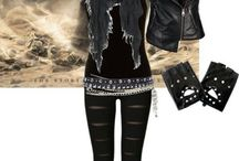 Rock/rebel/rider women outfits (fashion)