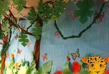 Jungle and Zoo Thematic Unit / Jungle and Zoo thematic fun for kindergarten math, reading, social studies, art, music, writing, and science.