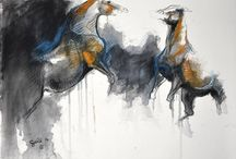 Horses Life Paintings / It's about life of horses.