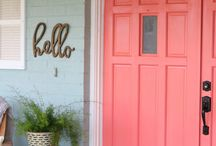 Statement Doors / Turn your old door into a piece of art by adding a pop of color, unique hardware, texture and more.
